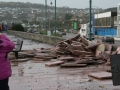 Paving flags ripped up in penzance during storms
